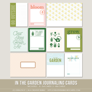 Image of In the Garden Journaling Cards (Digital)