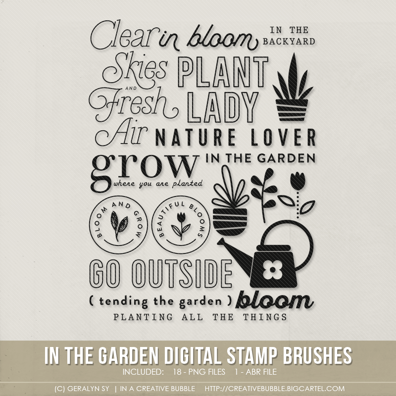 Image of In the Garden Stamp Brushes (Digital)