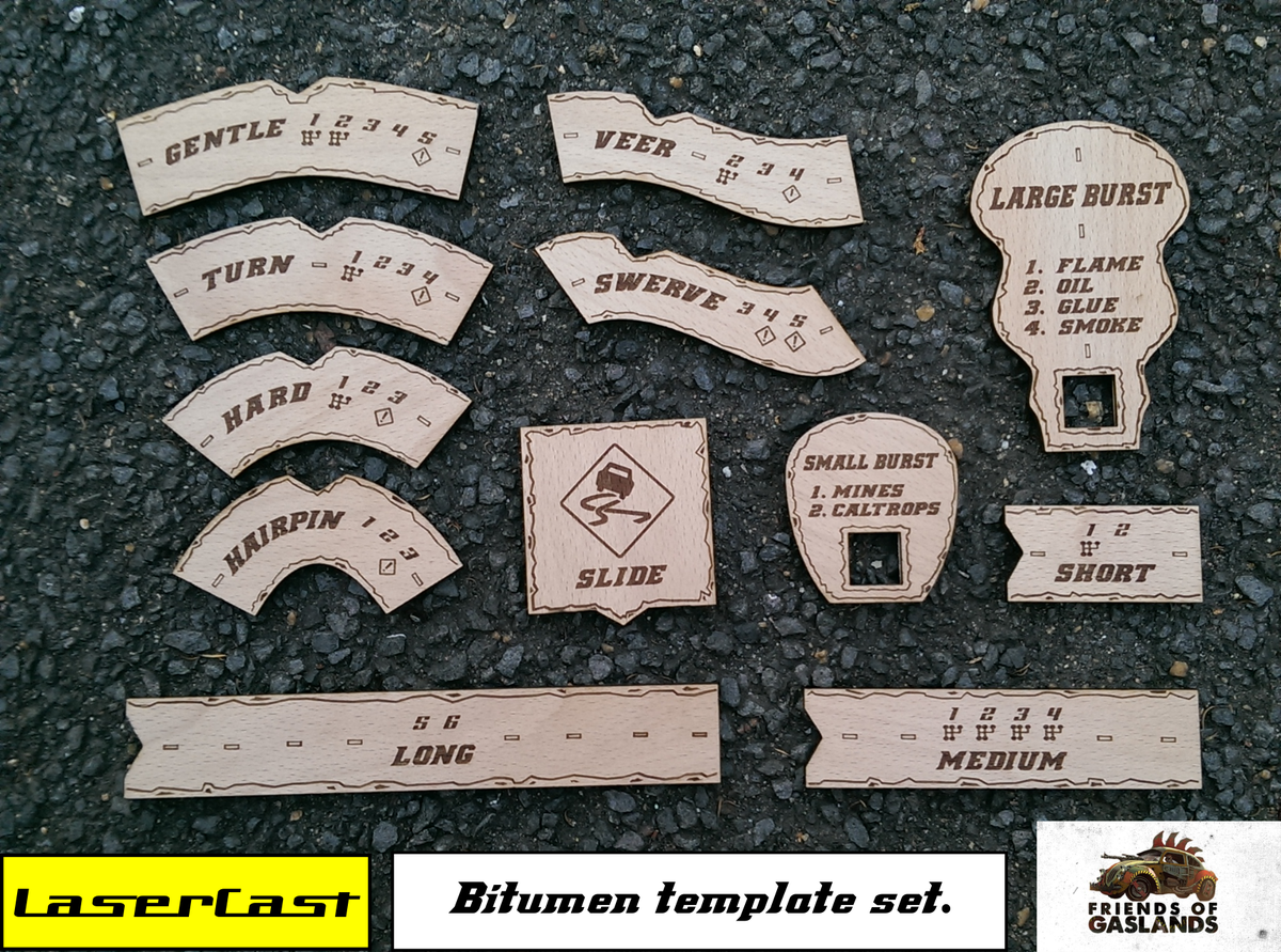 Gaslands lasercast for Big cartel store templates