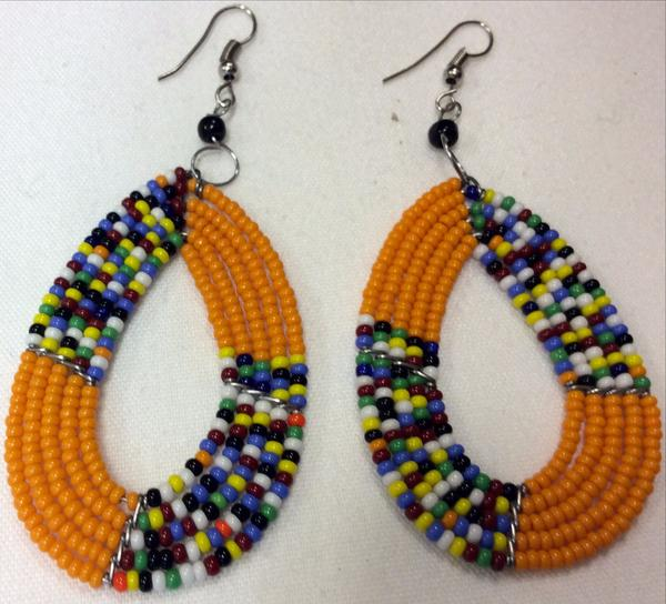Image of Calabash Maasai earrings