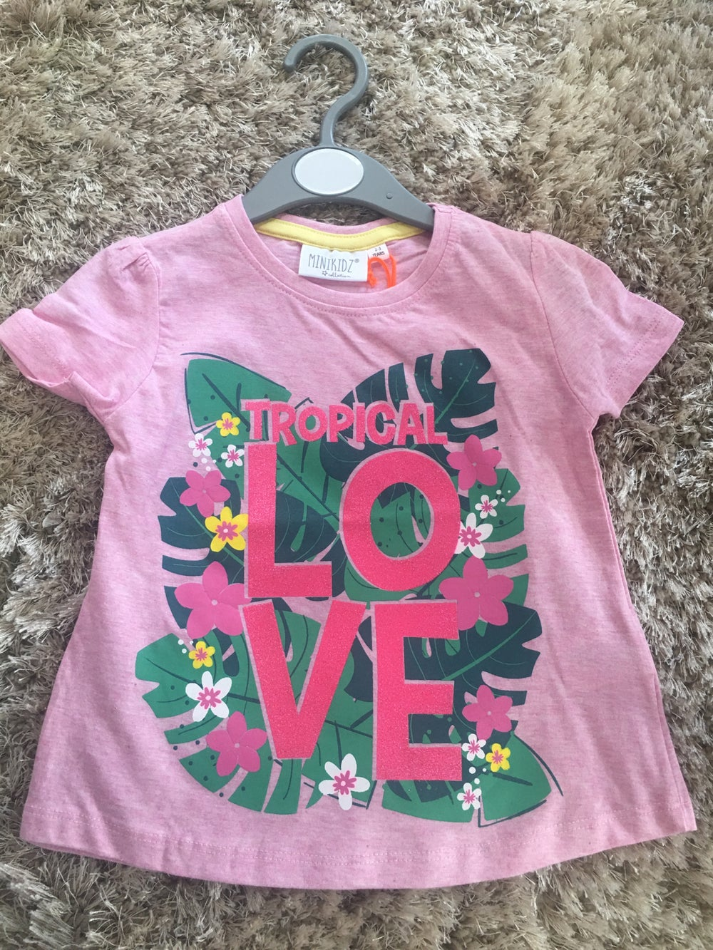 Image of Tropical love t shirt