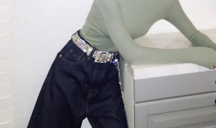 "Image of ""Pressure Bust Pipes"" Crystal Belt"