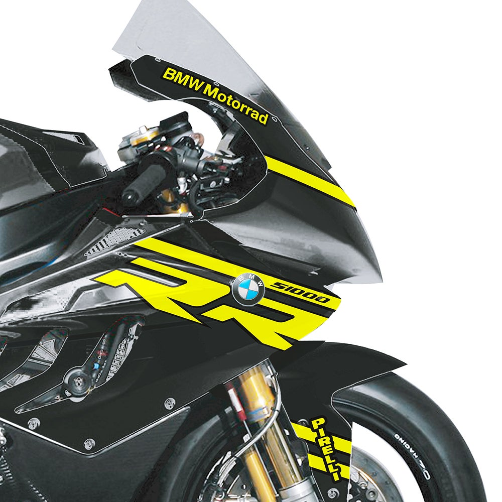 Image of Neon Winter Test Graphics pack. To fit BMW S1000RR or similar.