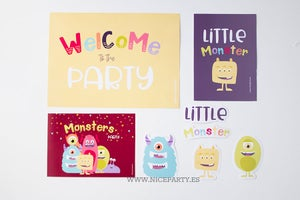 Image of Pack imprimible monster party