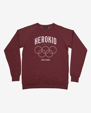 Image of Street Games · Wine Crewneck