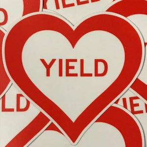 Image of YIELD Heart Sticker