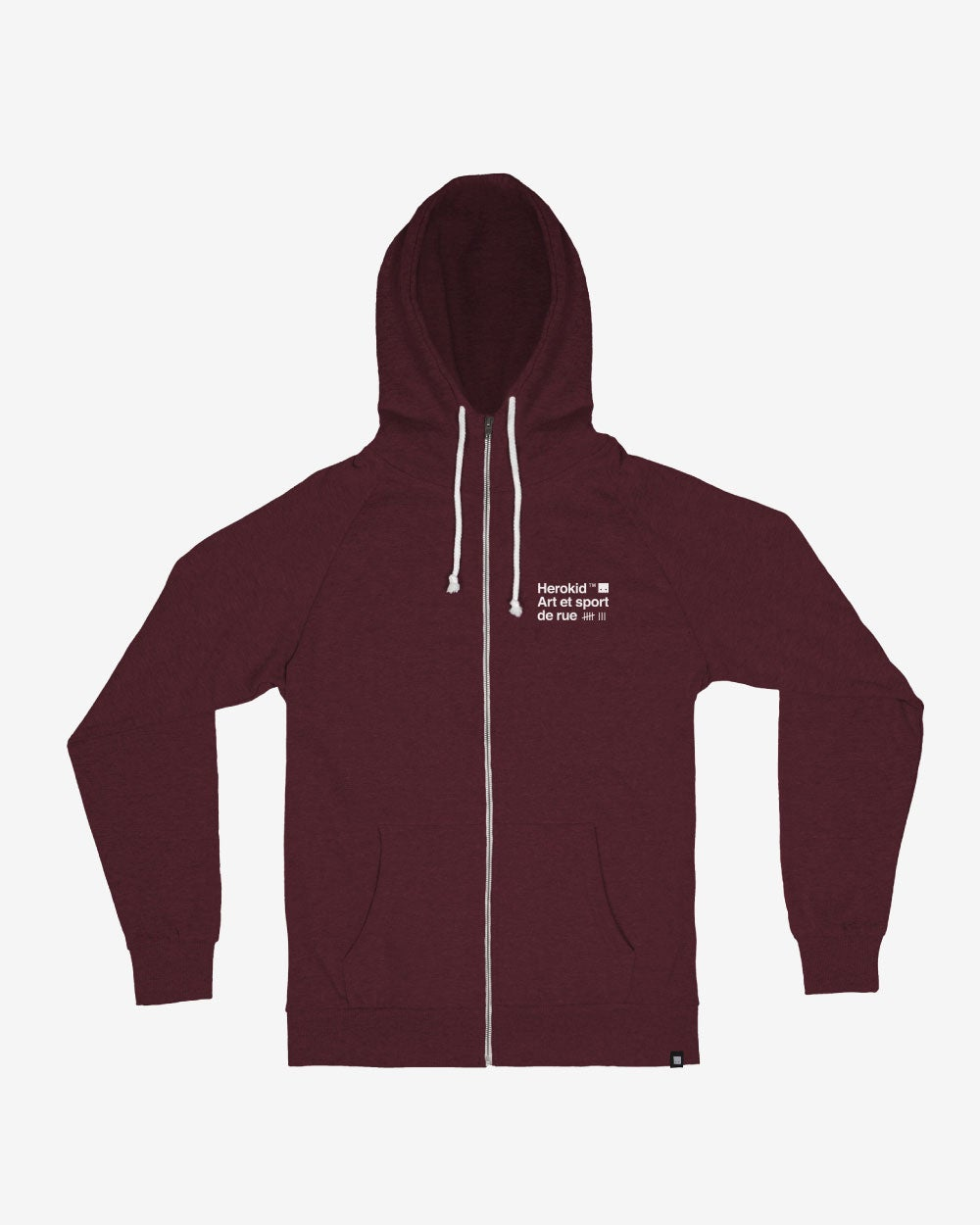 Image of Art et Sport de Rue · Wine Zip Hoodie
