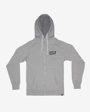 Image of Art et Sport de Rue · Grey Zip Hoodie