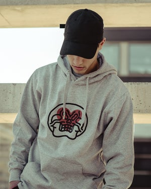 Image of <34EVR by Grito · Grey Hoodie