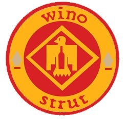 "Image of wino-strut ""Seeing Red""  Hat"