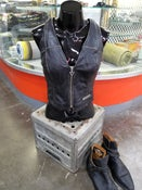 Image of Vintage Women's Leather Harley Vest