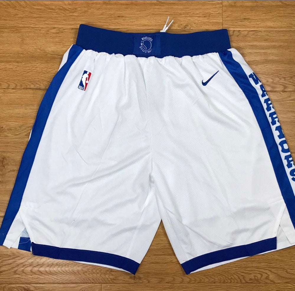 "Image of Golden state warriors ""white swingman shorts"""