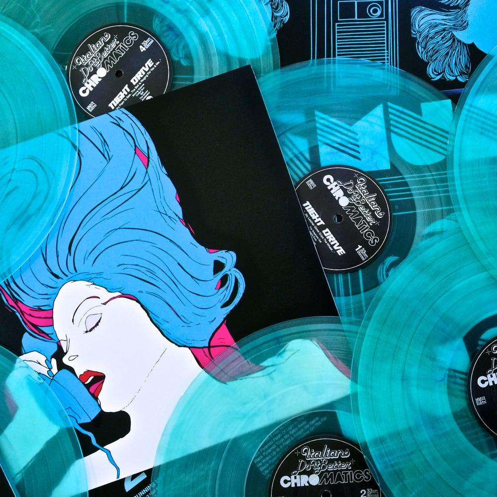 "Image of CHROMATICS ""Night Drive"" 2xLP On 180 Gram Blue Mist"