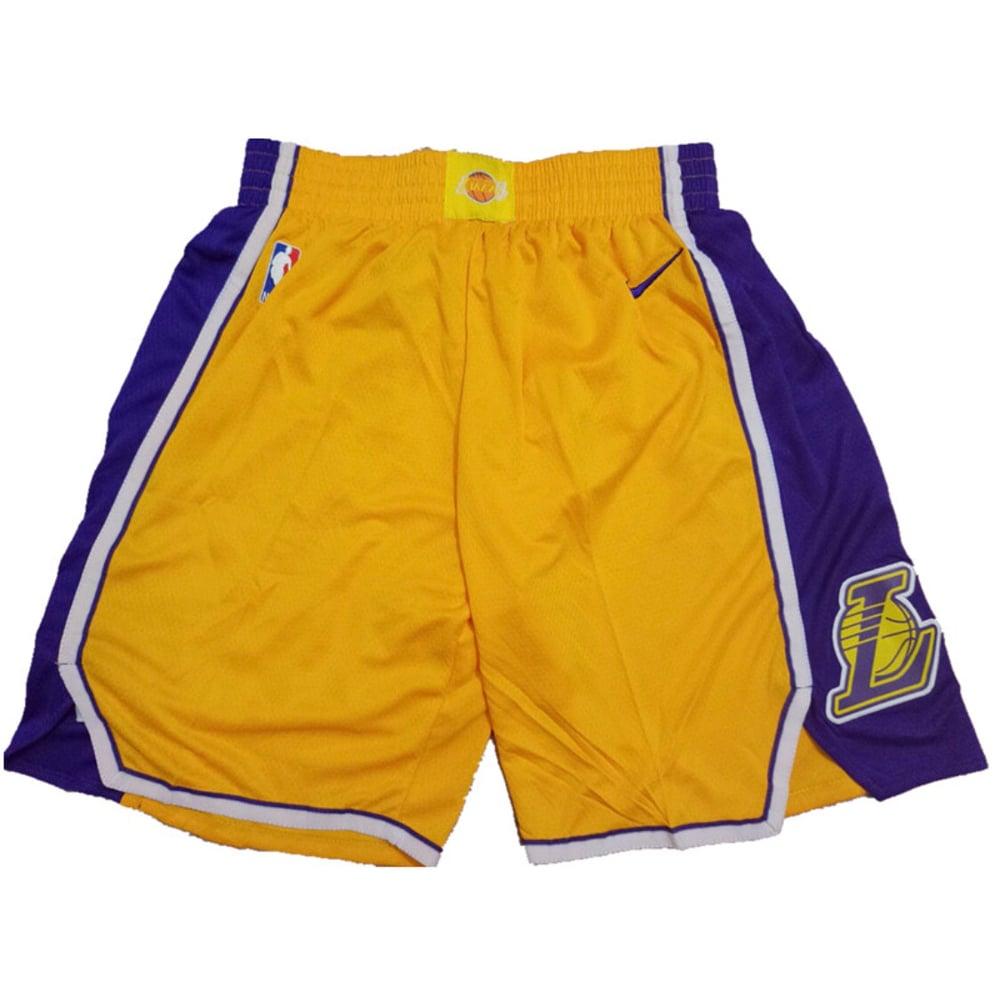 "Image of Los Angeles Lakers ""swingman shorts"""