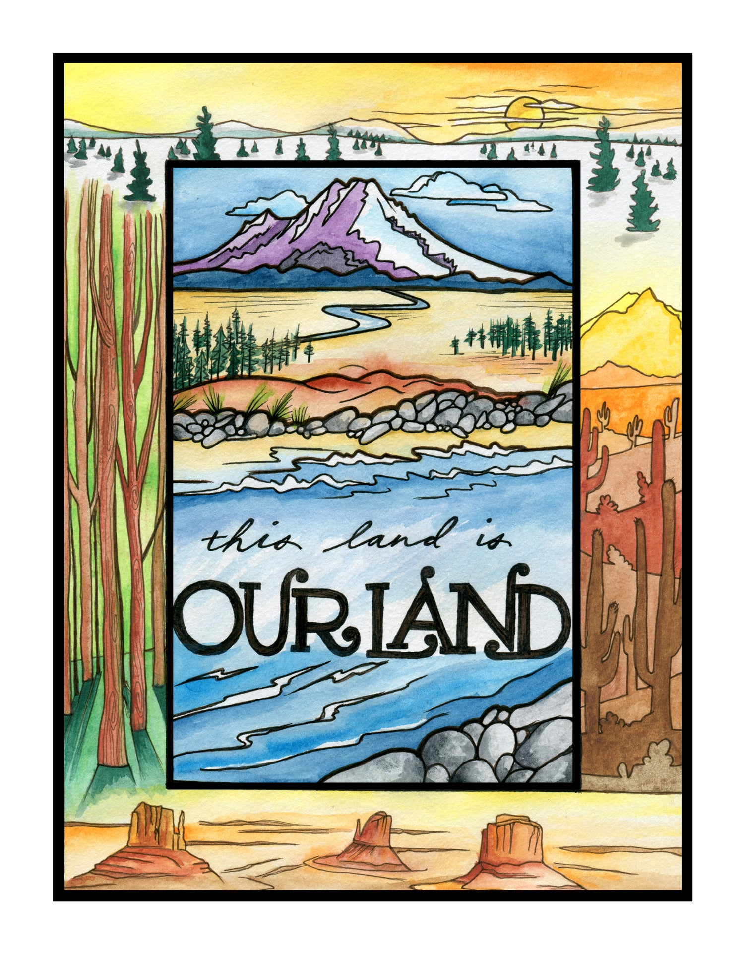 """Image of """"Our Land"""" print"""