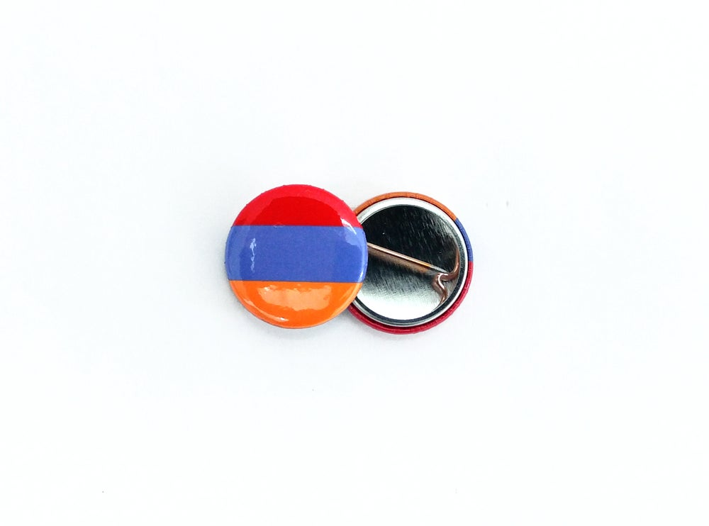 Image of Armenia flag round pin