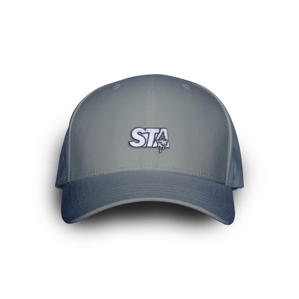 Image of STA Drip Light Grey Dad Cap