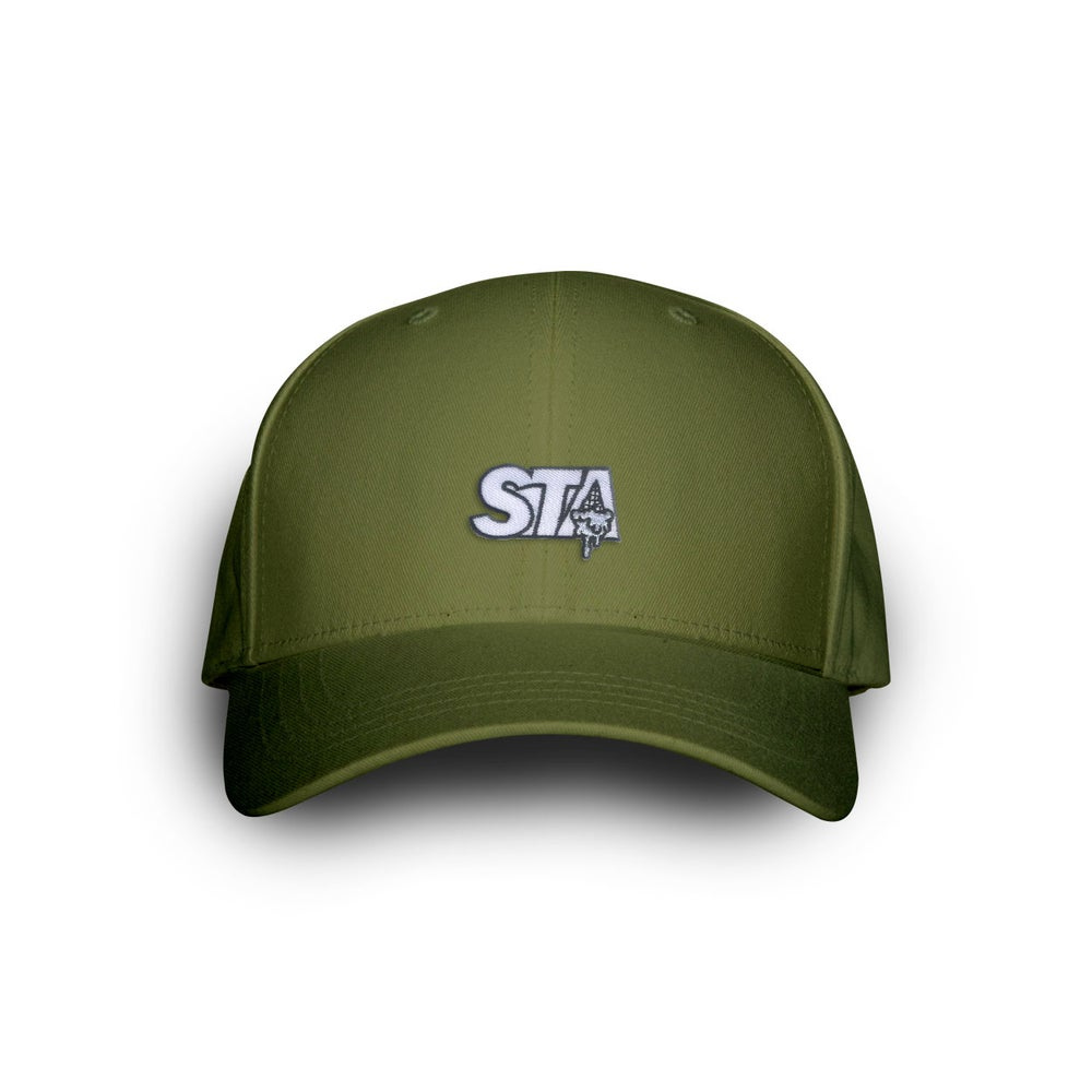 Image of STA Drip Dark Olive Dad Cap