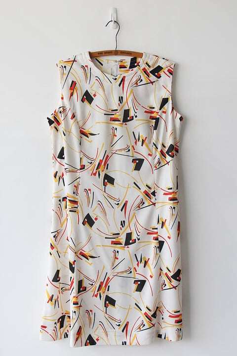 Image of SOLD Geometric Fireworks Dress
