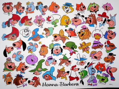 Image of HANNA-BARBERA TV STARS 19.5x25.5 ORIGINAL ART RE-CREATION