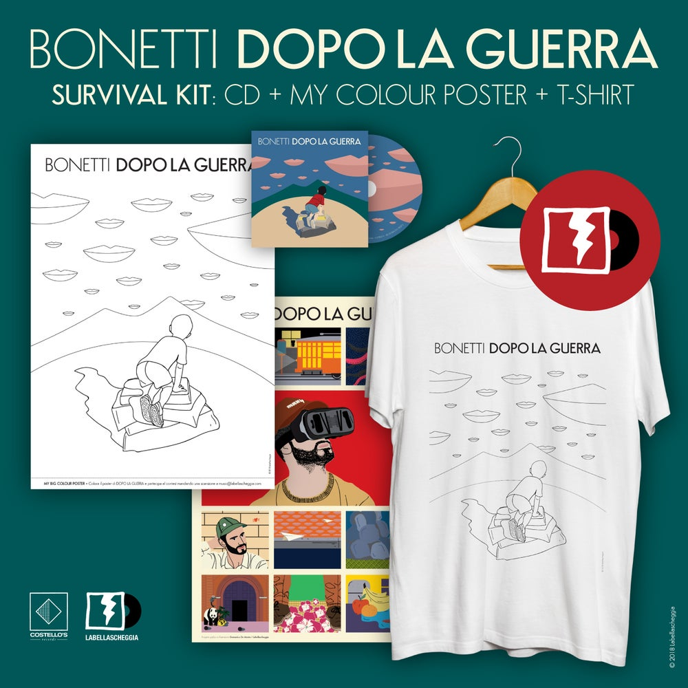 "Image of DOPO LA GUERRA KIT: cd + ""My color poster"" + t-shirt (black or white ltd. edition)"