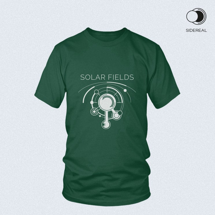 Image of Solar Fields 'logo' T-Shirt Forest Green color