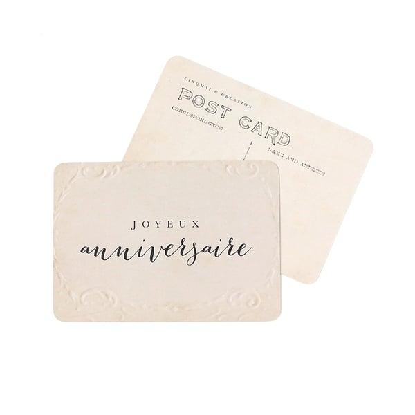 Image of Carte Postale JOYEUX ANNIVERSAIRE / OLD PAPER
