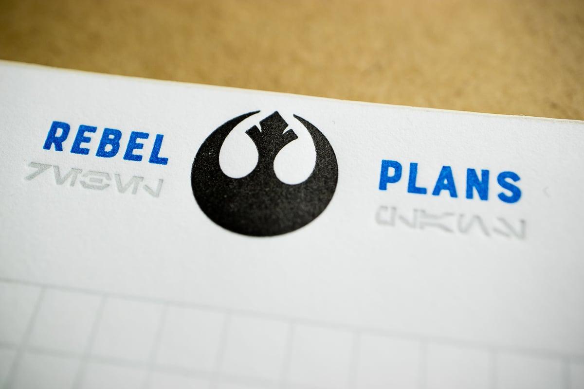 """Star Wars Notepads:  """"Rebel Plans"""" &  """"Imperial Orders"""""""