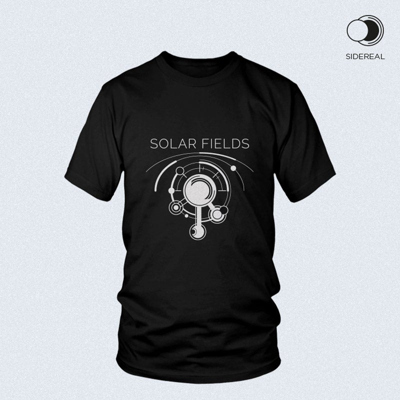 Image of Solar Fields 'logo' T-Shirt Black color