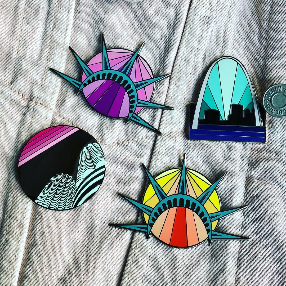 Image of City Pin Series - various options
