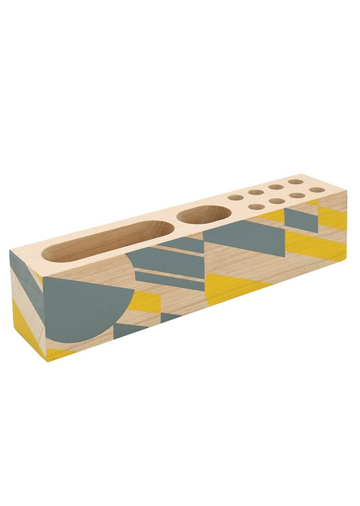 Image of Wooden Desk Organiser