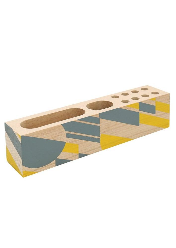 Image of Wooden Desk Organiser
