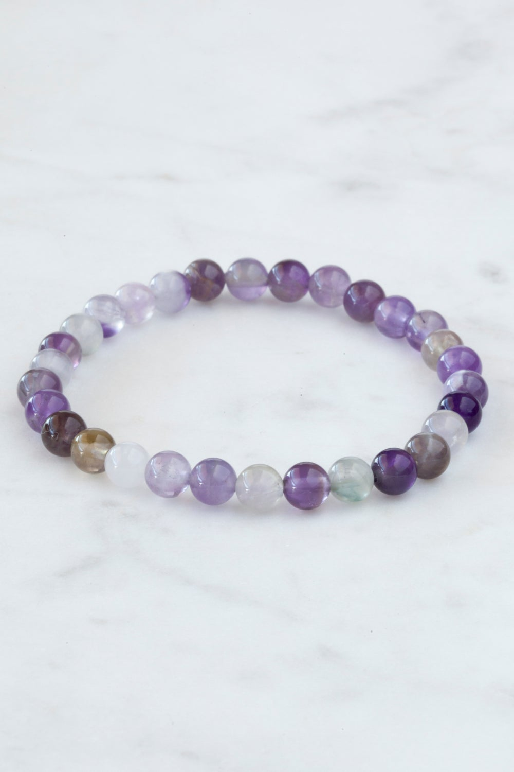 Image of Purple Fluorite Stacking Bracelet