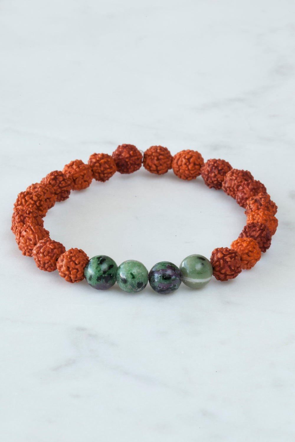 Image of Ruby In Zoisite Wrist Mala