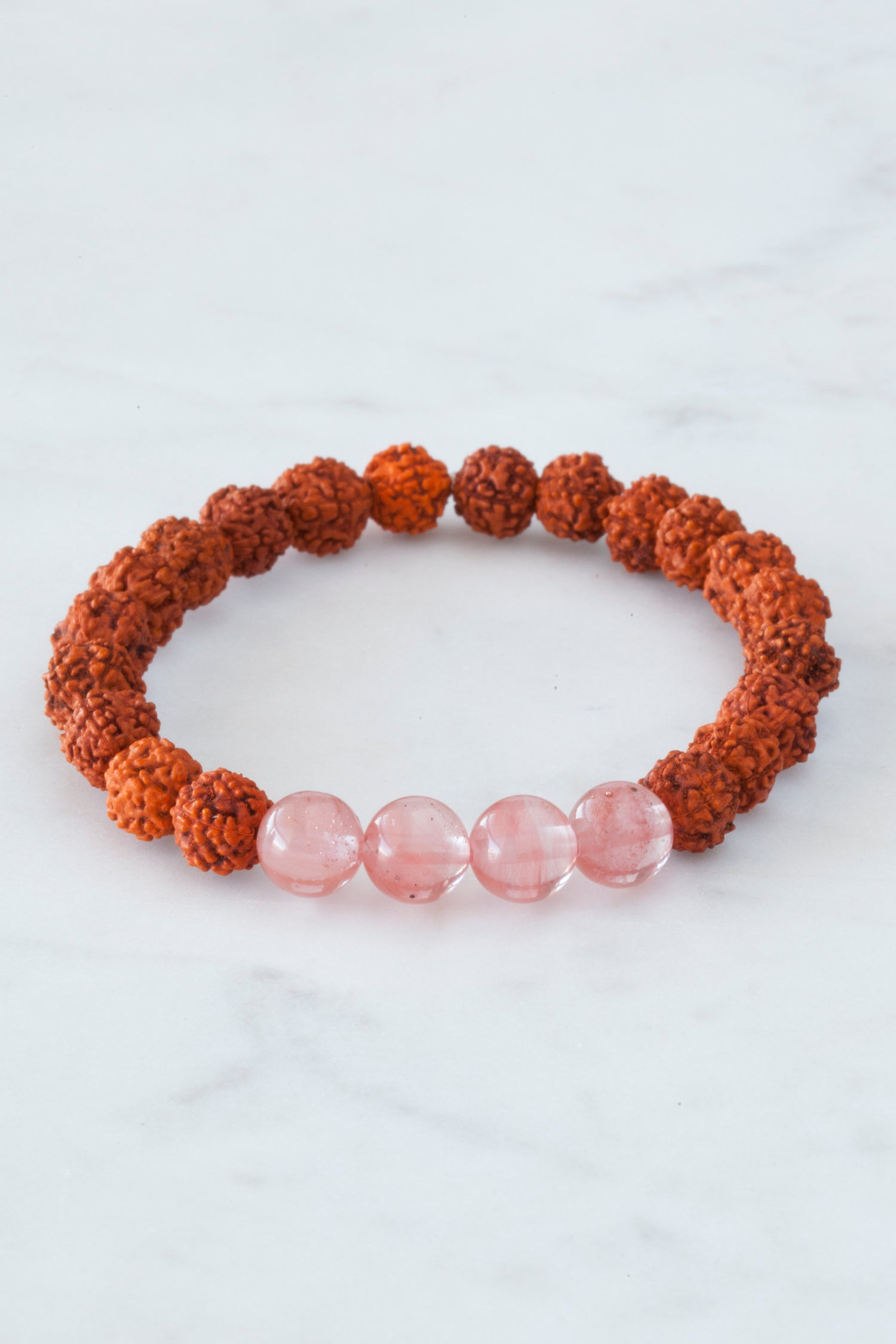 Image of Strawberry Quartz Wrist Mala