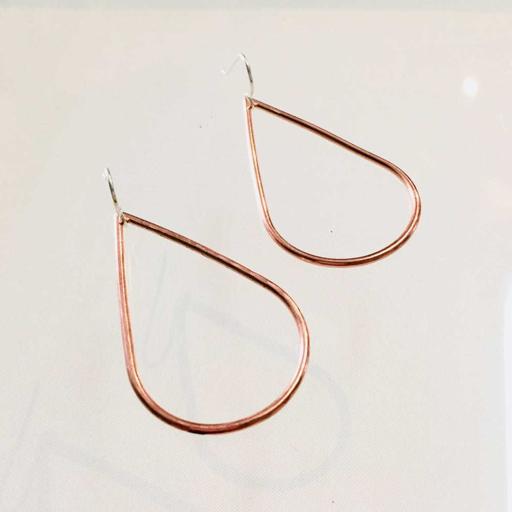 Image of Classic Copper Teardrop Earrings