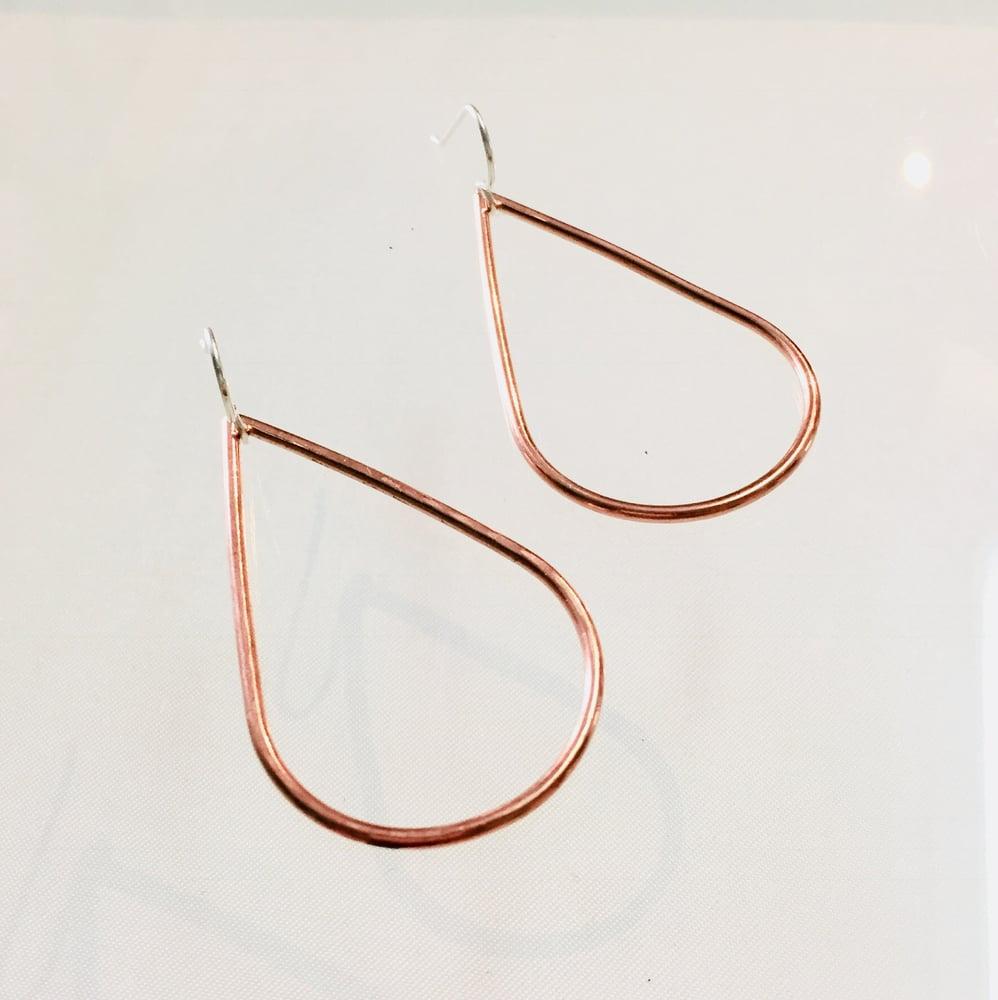 Image of Classic Copper Teardrop Earrings