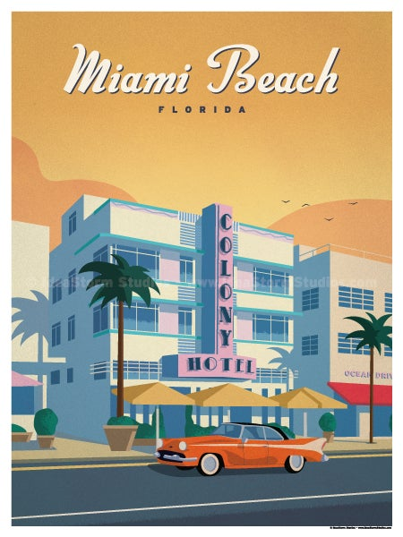 Image of Ocean Drive Miami Poster