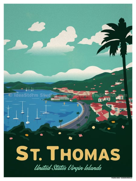 Image of St. Thomas Waterfront Poster