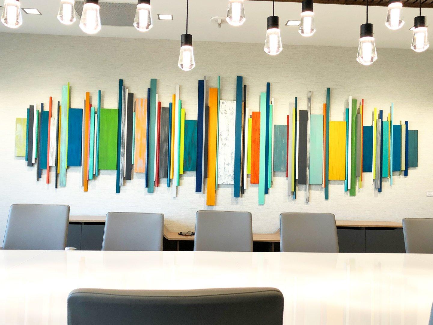 Image Of Corporate Artwork | Office Wall Decor | Wood Wall Art | Modern Wall  Sculpture