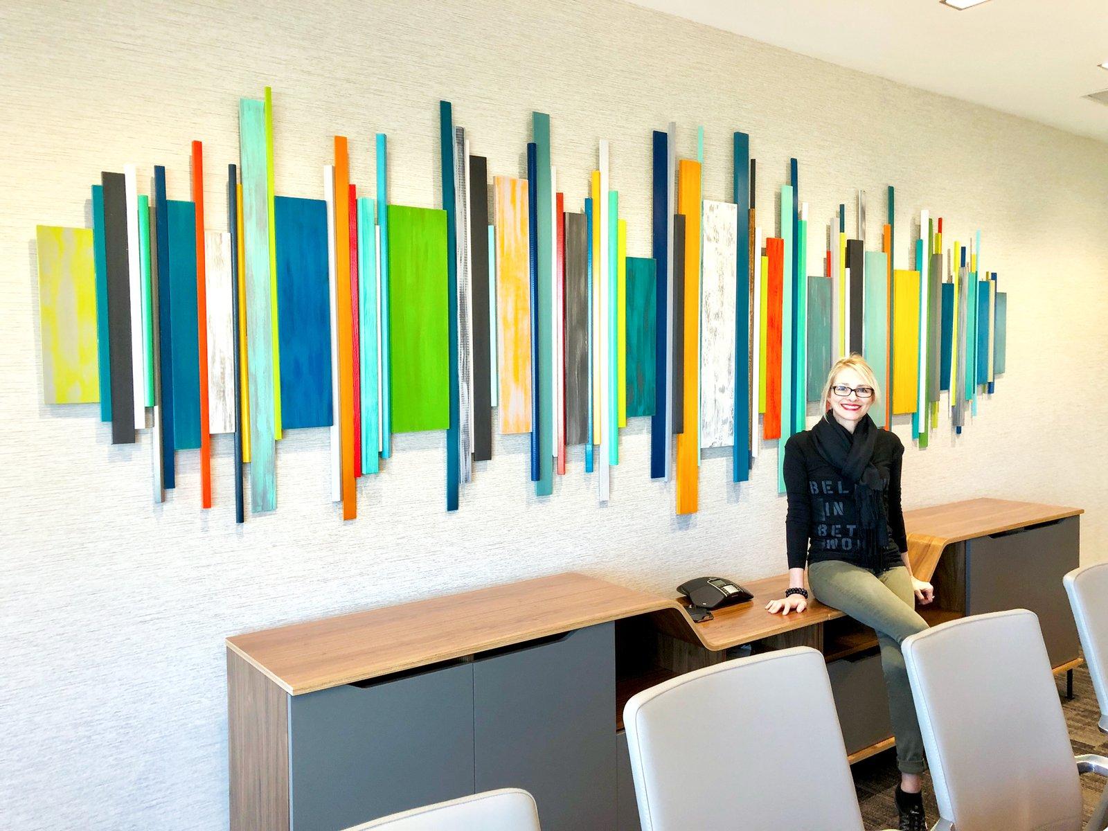 ... Image Of Corporate Artwork | Office Wall Decor | Wood Wall Art | Modern  Wall Sculpture ...