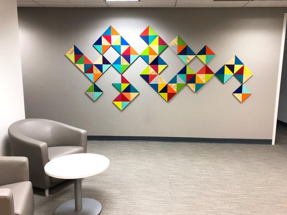 Image of 'FOLLOW YOUR BLISS' | Wood Wall Sculpture | 3D Wall Art | Large Wall Art | Modern Abstract Art