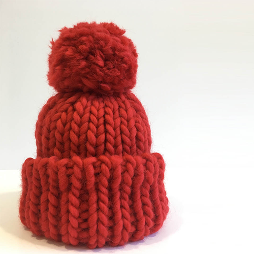 Image of Adult Beanie with Pom Pom