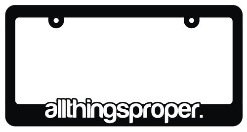 Image of allthingsproper. License Plate Frame