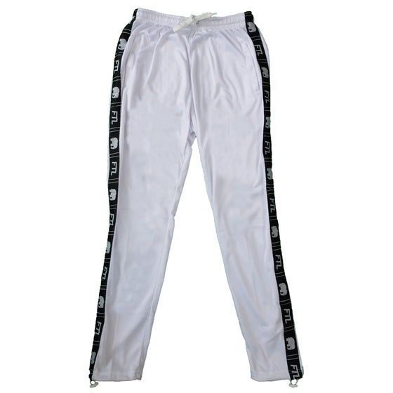 Image of Taped Logo Track Pants (White)