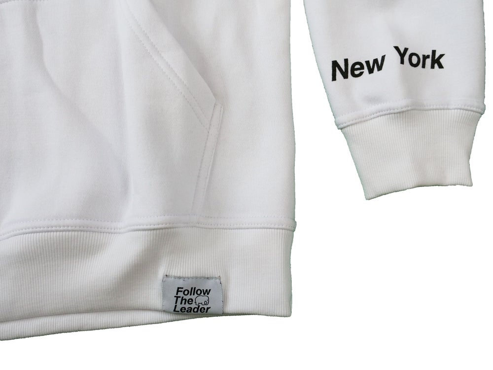 Image of Big Apple Hooded Sweatshirt (White)