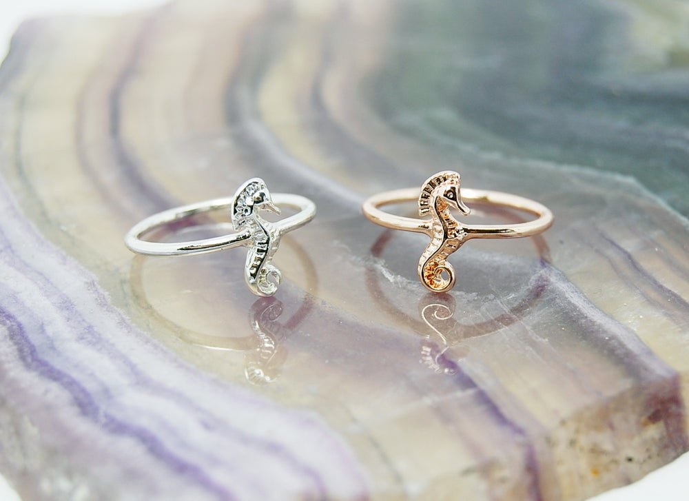 Image of Dainty Seahorse Ring - Colour Selection•