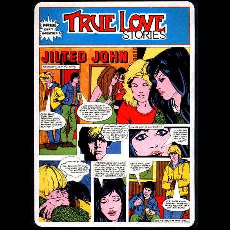 Image of JILTED JOHN - TRUE LOVE STORIES 40TH ANNIVERSARY EDITION LP + 7""