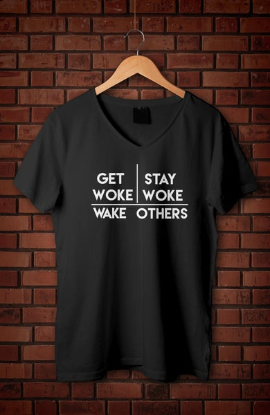 Image of Wake Up V-Neck T-Shirt