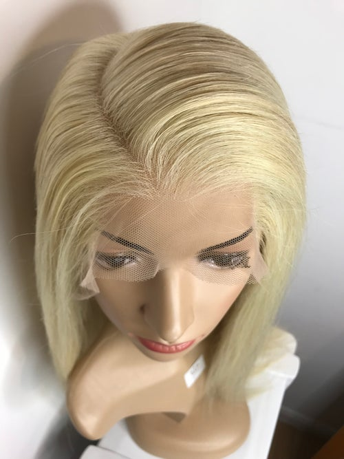 Image of Straight 613 Blonde 360 Frontal 'Platinum' Wig